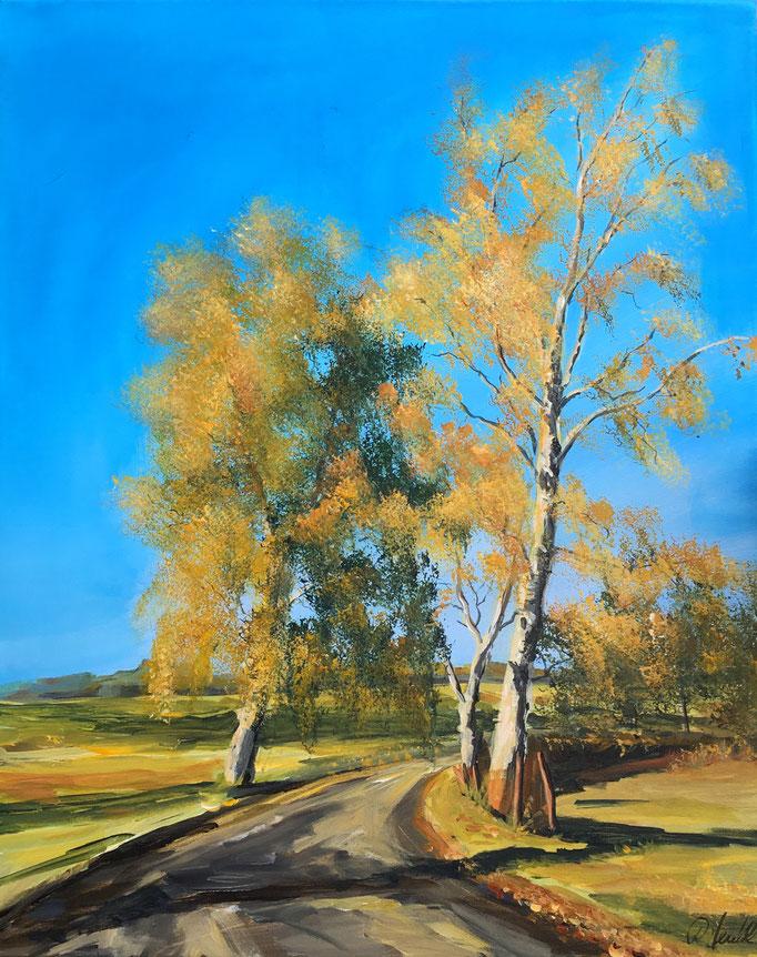 Hinterm Deich im Herbst 40x60 cm