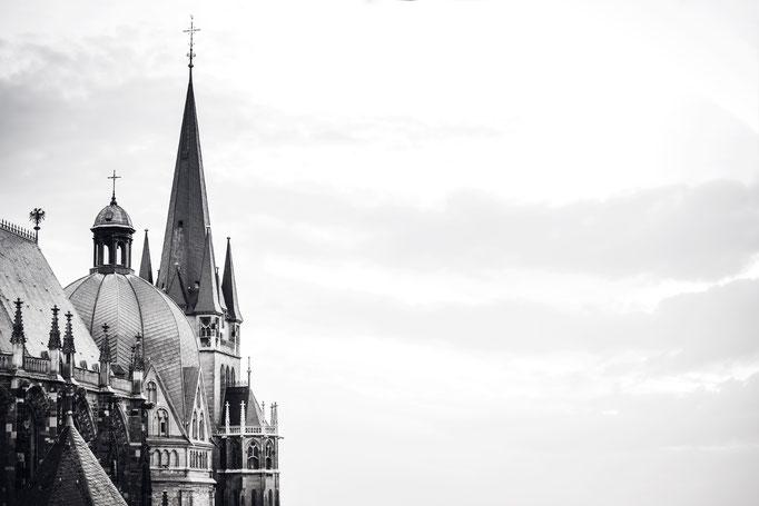 Der Aachener Dom. Lieblingsausschnitt in schwarz/weiß