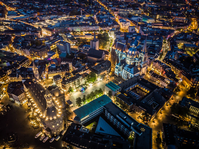 Aachen by night