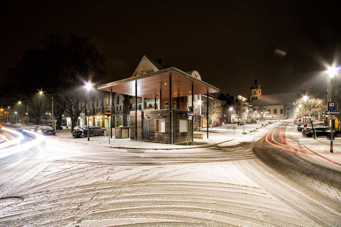 Würselen Markt im Winter