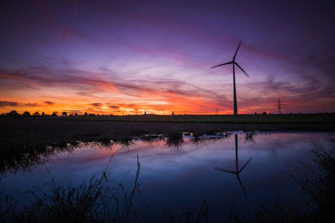 Sonnenuntergang in Birk