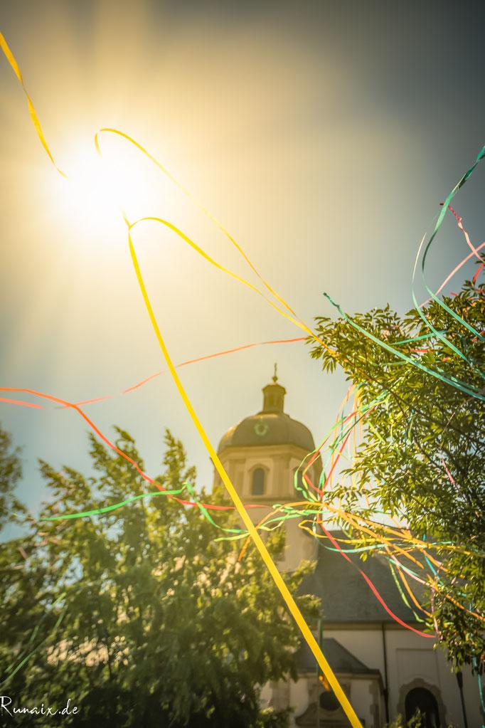 St.Sebastian nach den Jungenspielen durch das Oppen Haaler Feuerwerk