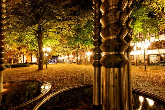 Lindenplatz Würselen im Herbst
