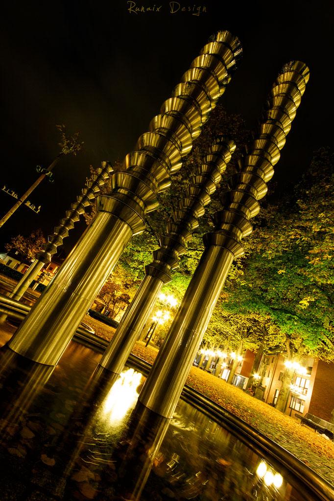 Lindenplatz am Abend