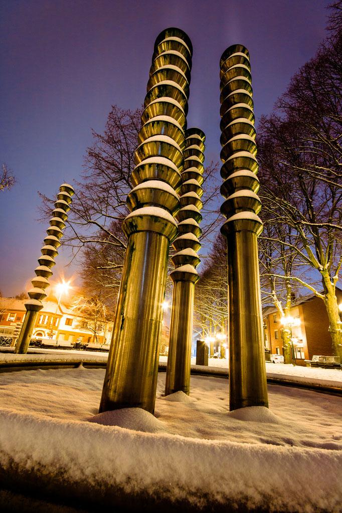 Lindenplatz im Winter