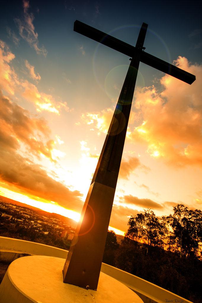 Haarener Kreuz bei Sonnenuntergang