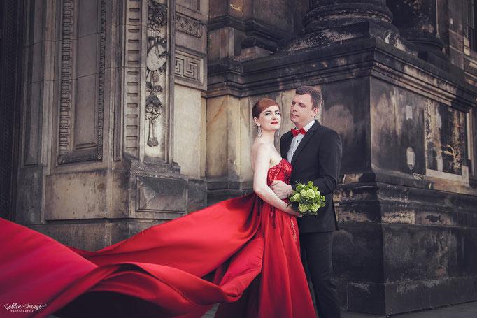 Brautpaar auf der Brühlschen Terrasse