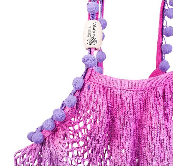 Batik Tasche gehäkelt aus Tschechien