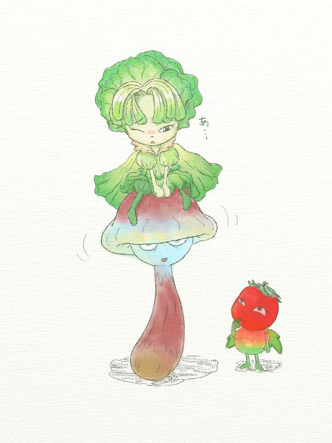 【野菜の妖精】NHK教育で放送されました。アクシデントで前髪を下ろしたレタスの可愛さは異常。