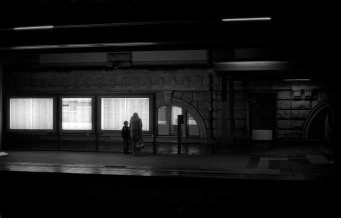 Trainstation at night