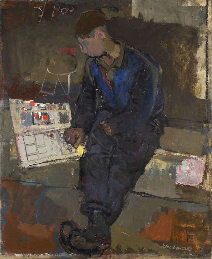 Joan Eardley: Boy with comic