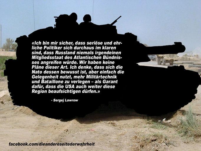 Lawrow über Spannungen an der NATO-Ostflanke