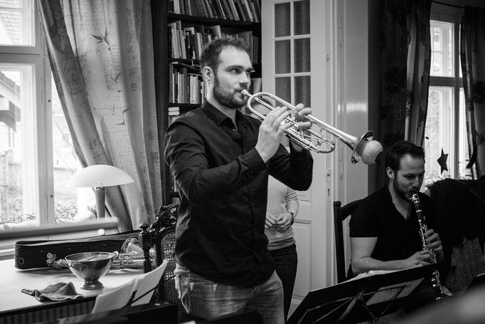 Der Solotrompeter höchstselbst.
