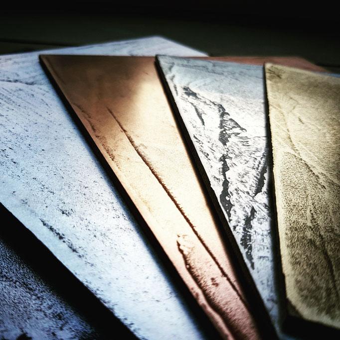 Metal stuc geschuurd/gepolijst