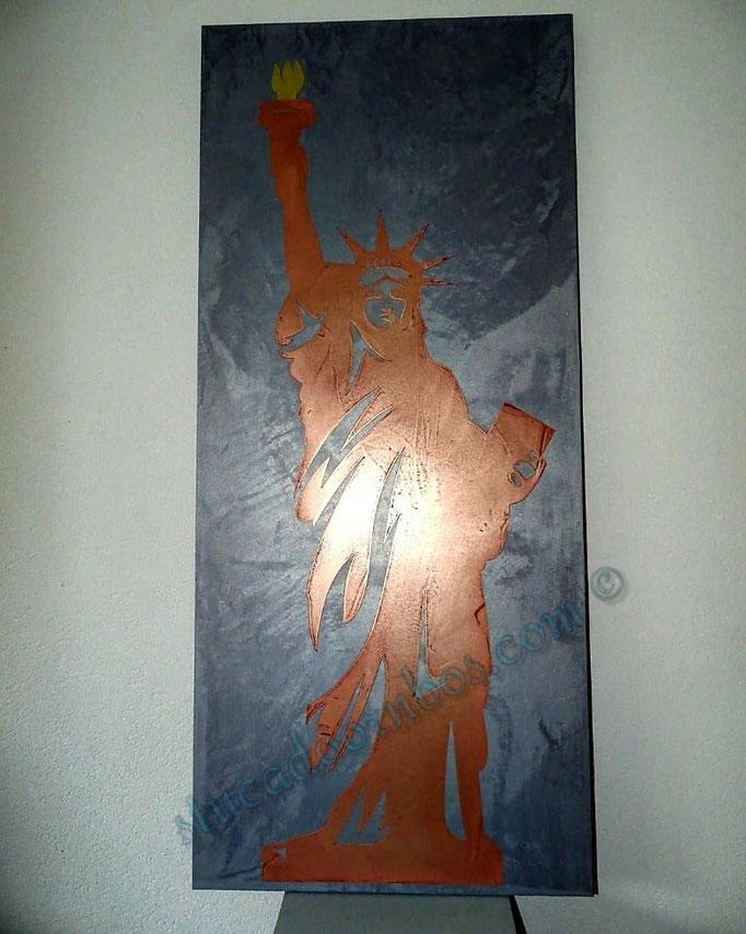 metalstuc koper vrijheidsbeeld