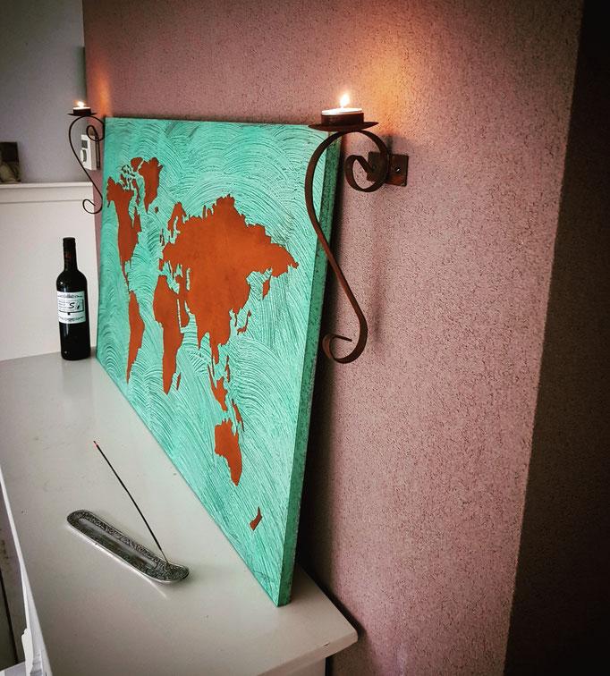 Wereldkaart van koper en oxidation