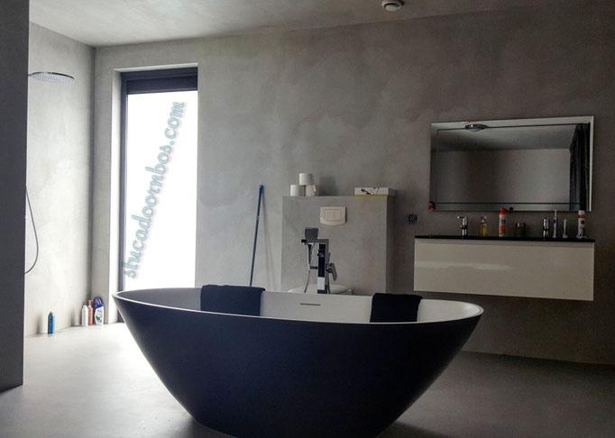 Badkamer met beal mortex