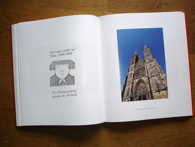 Die Wort- und Bildspiele des Nürnberger Künstlers Toni Burghart verleihen dem Buch eine ganz besondere Note.