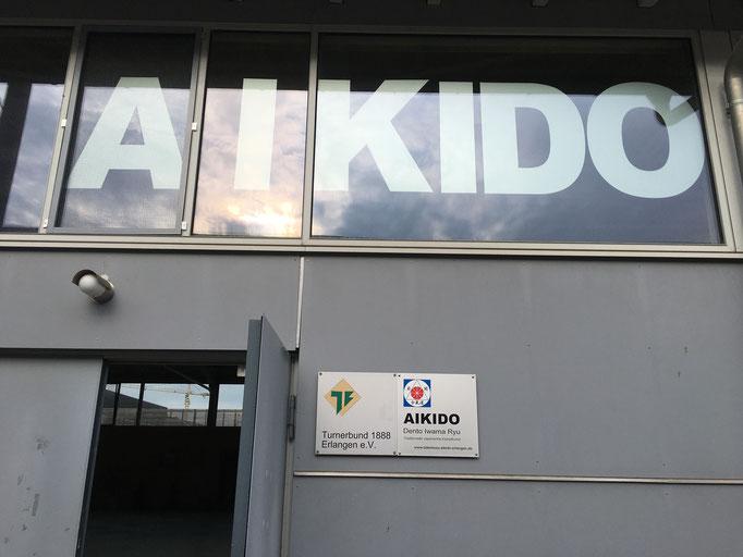 L'ingresso del Takemusu Aiki Dojo Erlangen