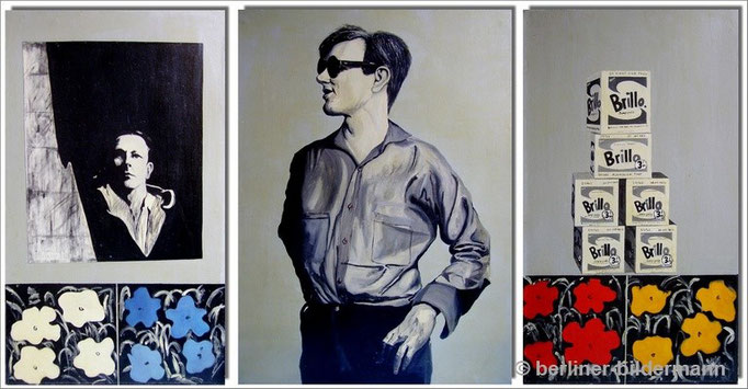 """Andy Warhol Triptychon""/ 1987/ Öl auf Leinwand"