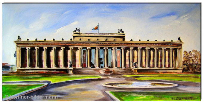 """Altes Museum- Museumsinsel""/2009/ Acryl auf Leinwand/ 50×100 cm"