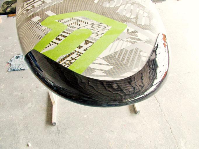 Surfbrett Noseprotector Carbon