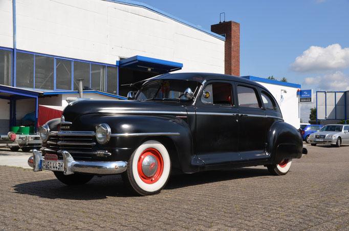 1948er Plymouth. Karosseriearbeiten und Lackierung Innen und Aussen