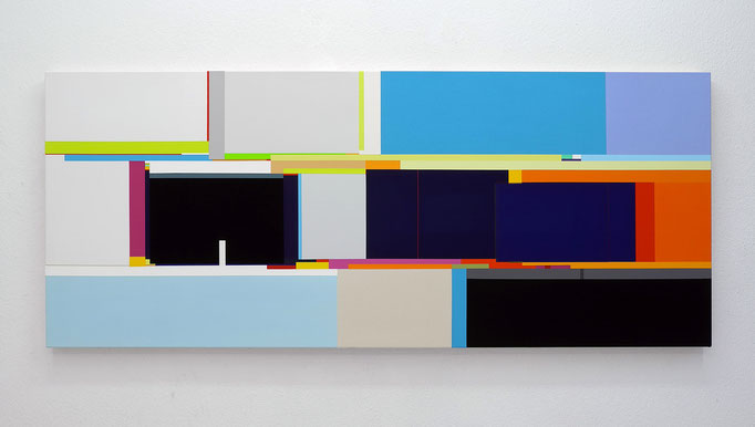Richard Schur, From the Voyage Series, 2016, acrylic on canvas, 100 x 240 cm / 39 x 94 inch