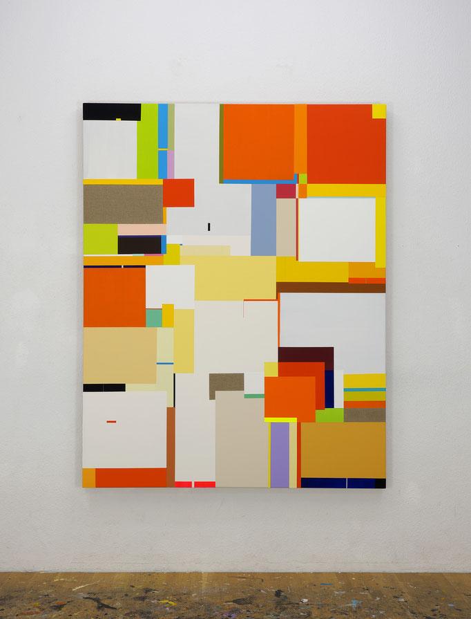 Richard Schur, Lioness, 2017, acrylic on canvas, 190 x 150 cm / 75 x 59 inch