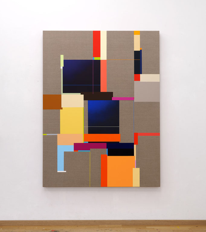 Richard Schur, Tower, 2019, acrylic on canvas, 160 x 120 cm / 63 x 47 inch, available at Kristin Hjellegjerde Gallery, London and Berlin