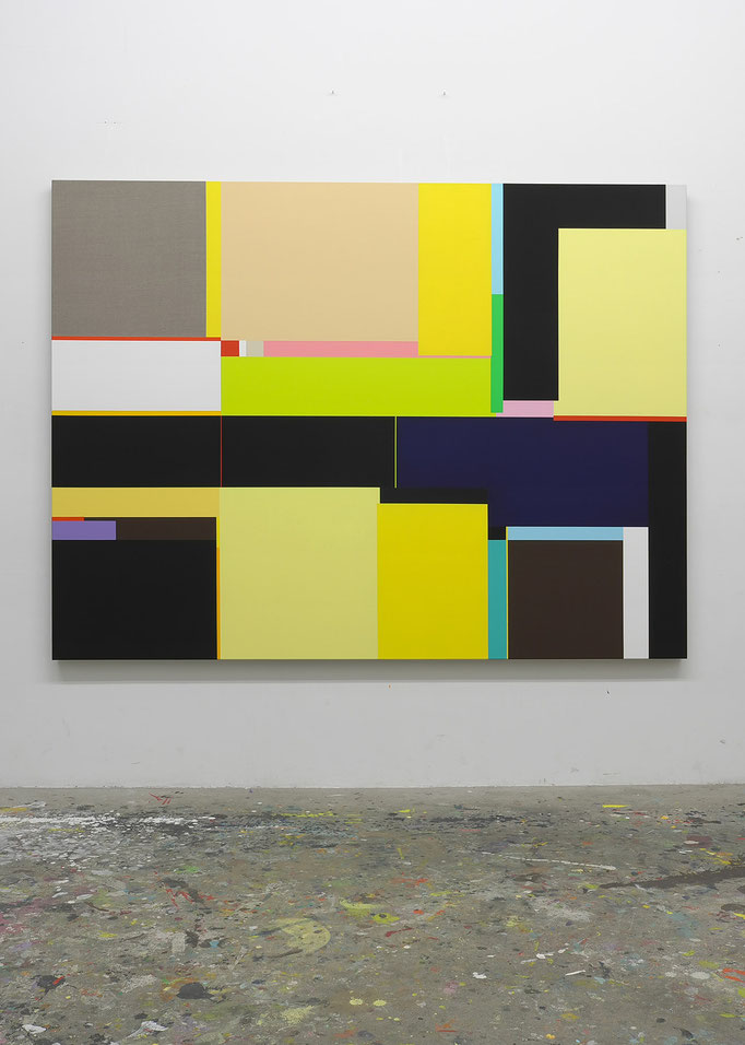 Richard Schur, From the Dying Suns Series, 2011, acrylic on canvas, 180 x 240 cm / 71 x 94 inch, available at Espace Meyer-Zafra, Paris, New York, Miami