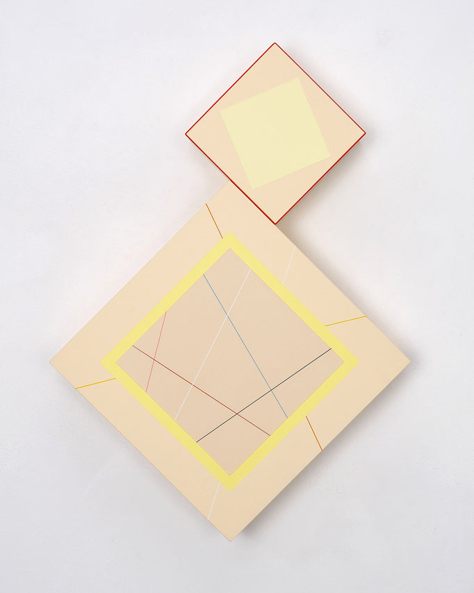 Richard Schur, Sculptural Painting, 2019, acrylic, wood, 58 x 42 x 9 cm / 23 x 16.5 x 3.5 inch, available at Galerie Stefan Vogdt, Munich