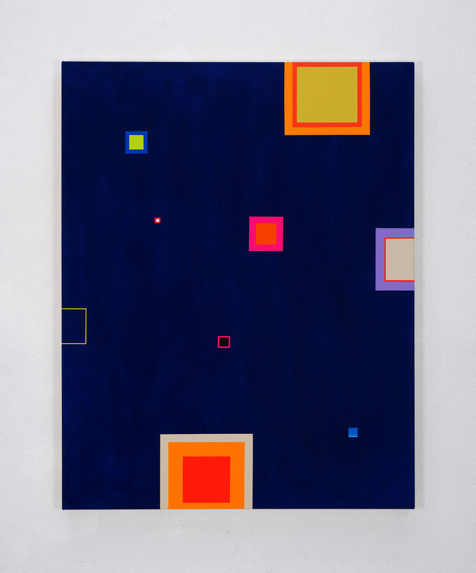 Richard Schur, The Stars of Arles, 2017, acrylic on canvas, 140 x 110 cm / 55 x 43 inch