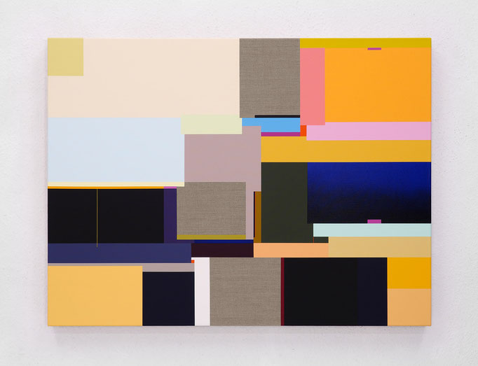 Richard Schur, Flow, 2019, acrylic on canvas, 90 x 120 cm / 35 x 47 inch, available at Galerie 21.06, Ravensburg
