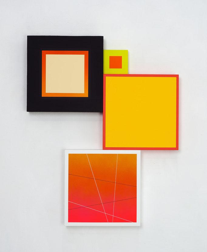 Richard Schur, Spatial Object, 2018, acrylic, wood, 75 x 60 cm x 6 cm  / 30 x 24 x 2,4 inch