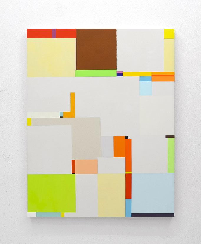 Richard Schur, Flirt, 2016, acrylic on canvas,  140 x 110 cm / 55 x 44 inch