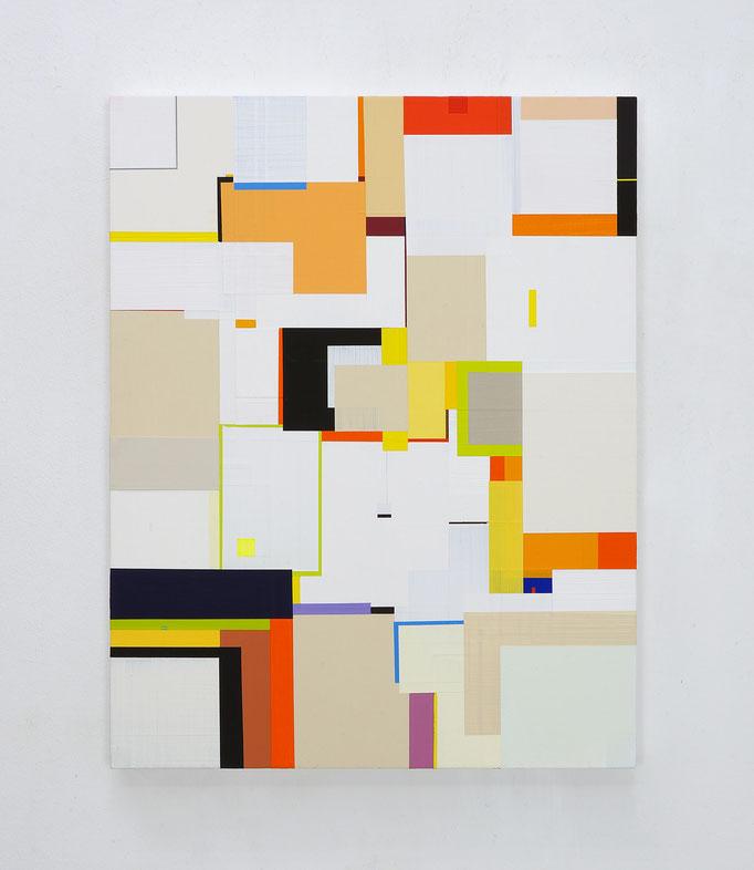 Richard Schur, Modernist Study, 2018, acrylic on wood, 56 x 44 cm / 22 x 17 inch