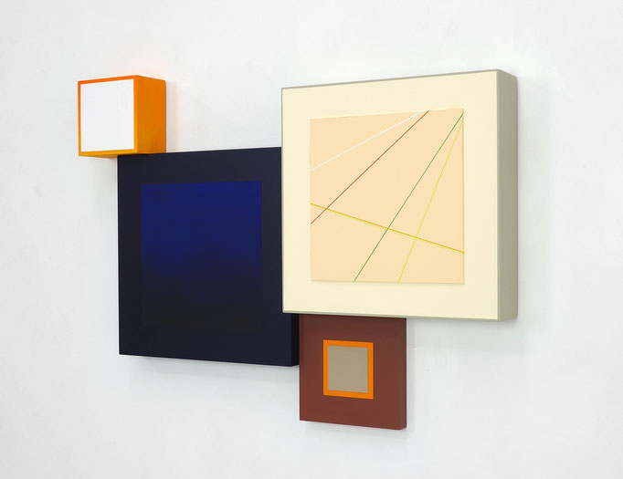 Richard Schur, Spatial Object, 2018, acrylic, wood, 65 x 88 x 9 cm  / 26 x 35 x 3,5 inch, available at Kristin Hjellegjerde Gallery, London and Berlin