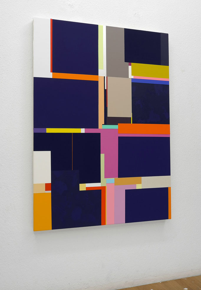 Richard Schur, From the Kill City Series, 2015, acrylic on canvas, 140 x 110 cm / 55 x 44 inch, available at Espace Meyer-Zafra, Paris, New York, Miami