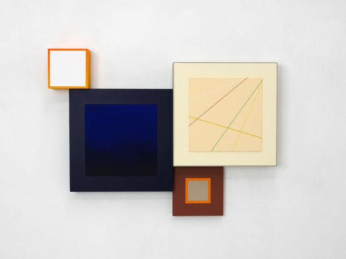 Richard Schur, Spatial Object, 2018, acrylic, wood, 65 x 88 x 9 cm  / 26 x 35 x 3,5 inch