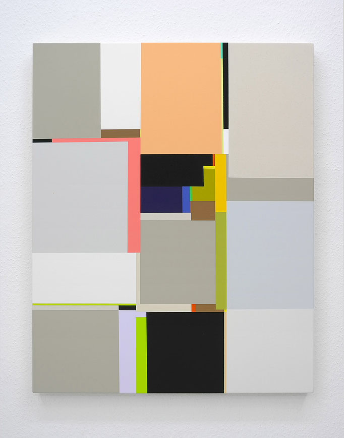 Schur, Silver Suns II, 2015, acrylic on canvas, 100 x 80 cm / 39 x 31 inch, available at Espace Meyer-Zafra, Paris, New York, Miami