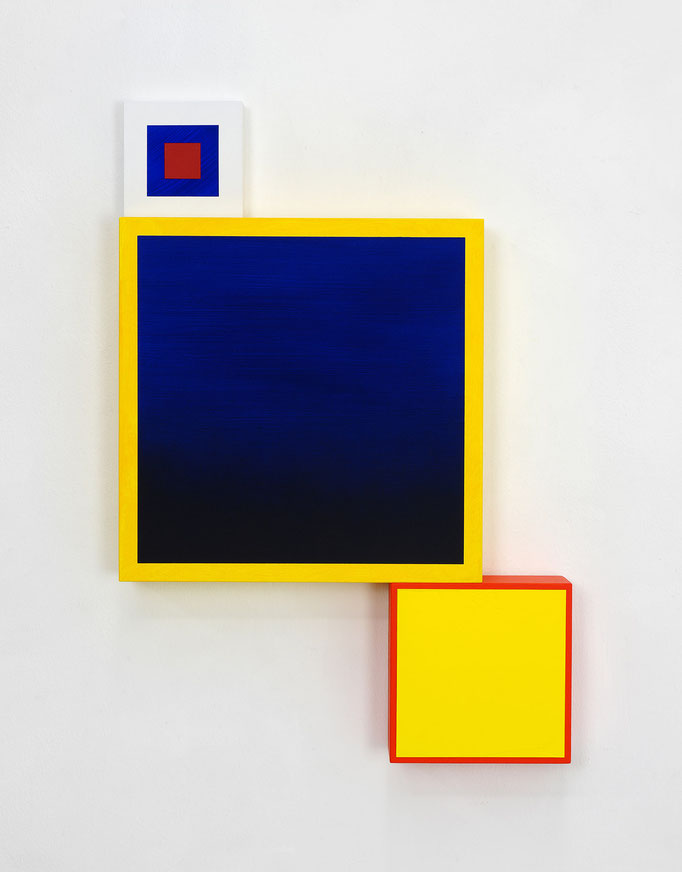 Richard Schur, Spatial Object, 2018, acrylic, wood, 55 x 38 x 6 cm  / 22 x 15 x 2,4 inch