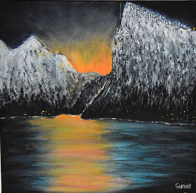 Sunset / 50 x 50 cm (Acryl)