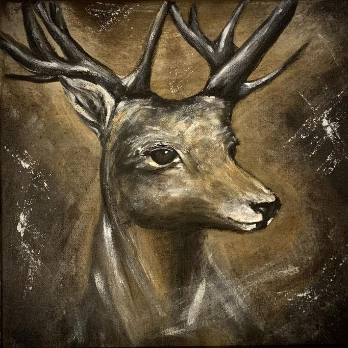 Nature Spirit - Deer / 50 x 50 cm (Acryl)