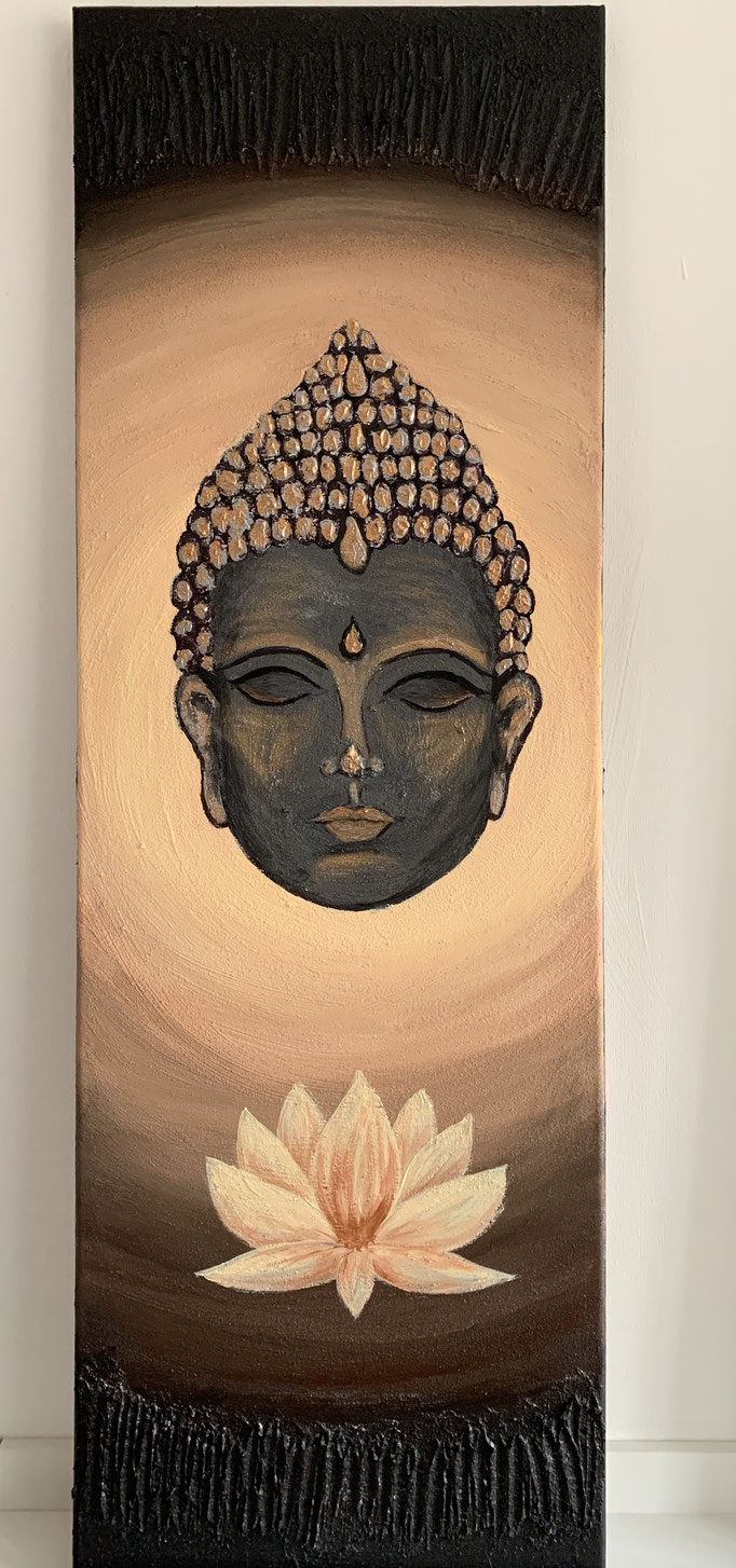 Budda - black-gold (Acryl)