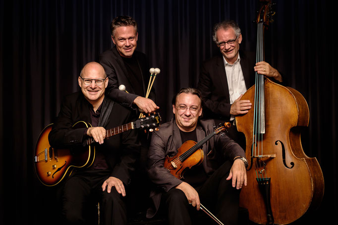 Taubitz / Dobler Swing Quartet: Dani Solimine, Thomas Dobler, Adam Taubitz, Thomas Dürst. Foto: Enea Caccia