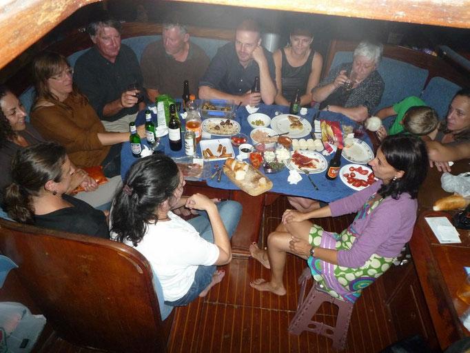 Cena con españoles