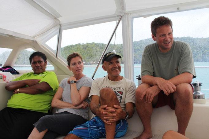Ma, Lucy, Jose y Jammie en el Amel de nuestros amigos