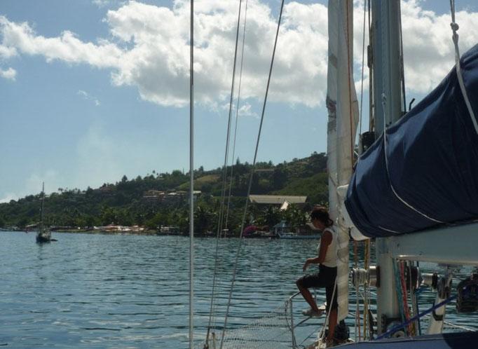 Arribando a Tahiti