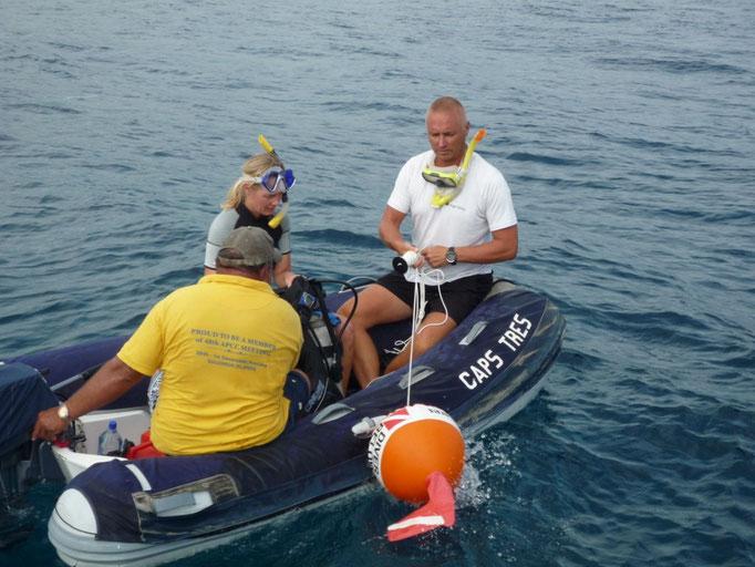Los chicos prefirieron hacer un diving